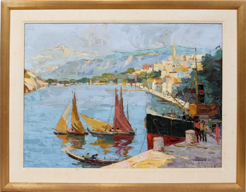 harbor scene by rudolph negely