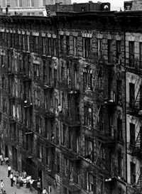 east 100th street facade, new york city by bruce davidson