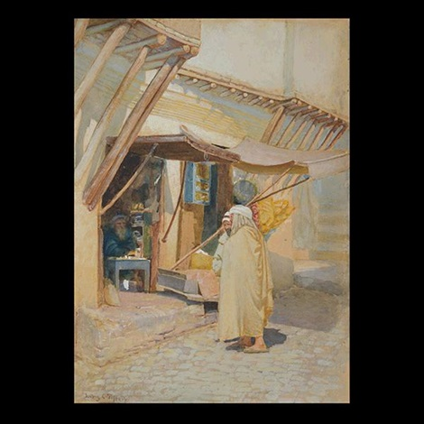 arab street scene by louis comfort tiffany