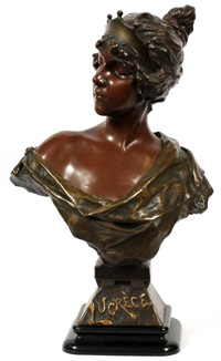 bust of maiden by emmanuel villanis