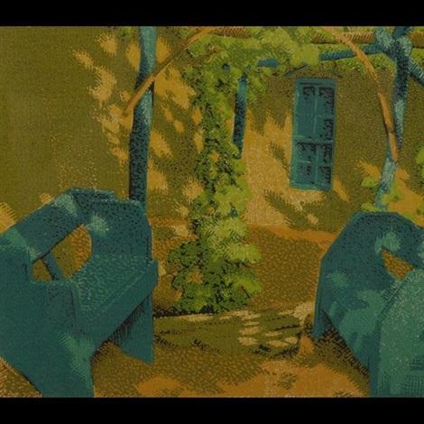 a quiet corner by gustave baumann
