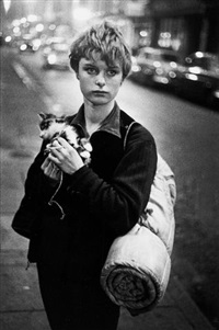 girl holding kitten, london by bruce davidson