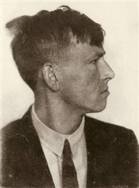 otto dix (in profile) by hugo erfurth