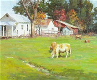 the sunlit pasture by marlin linville