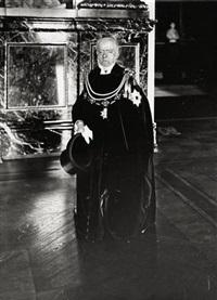 adolph von menzel im ornat des schwarzen adlerordens by georg haeckel