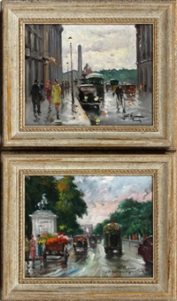 paris street scenes (pair) by françois gerome