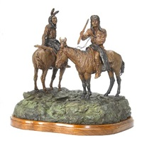 indians on horseback by jay contway