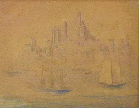 ships and city by theodore earl butler