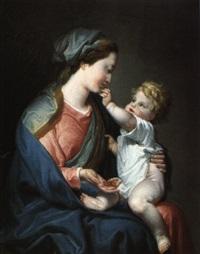madonna mit den datteln by domenico corvi