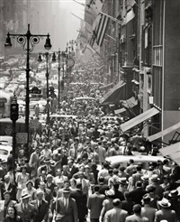 lunch rush on 5th avenue, new york by andreas feininger