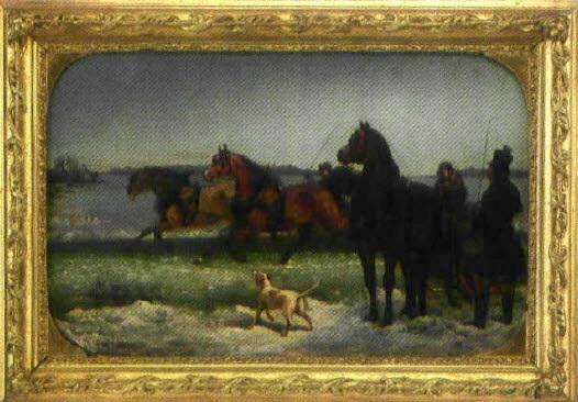 hästkapplöpning på is by johan georg arsenius