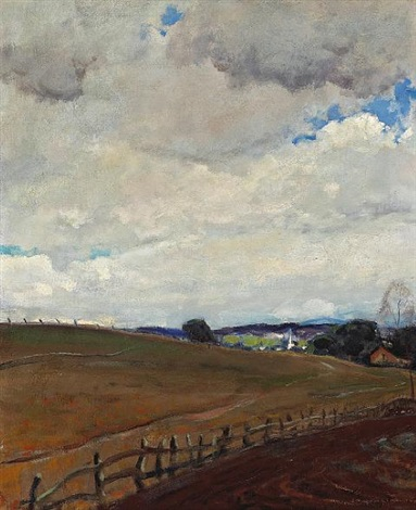 open fields and passing clouds monterey by arthur hill gilbert