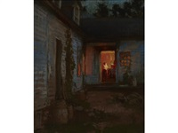 farmhouse at night, tyringham by hiroshi yoshida