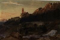 santa fiora im grosseto westlich des lago di trasimeno by carl (baron) von binzer