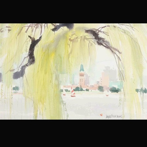 willow tree at lake merritt oakland by jade fon