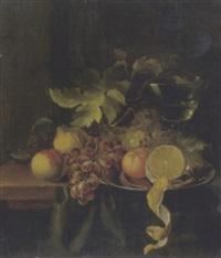 stilleben mit früchten und römer by laurens craen