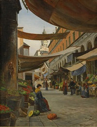 fruktmarknad, lugano by august fischer