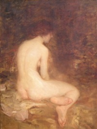 seated female nude by robert benvenuti
