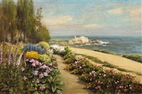flower walk, lovers point, pacific grove by william adam