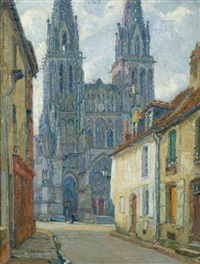 sees cathedral, orne, france, morning by pierre gaston rigaud