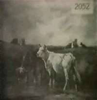 cattle in landscape by martinez