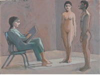 untitled (artist and two models) by william theophilus brown