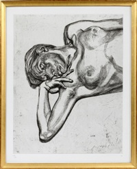 head and shoulders of a girl by lucian freud