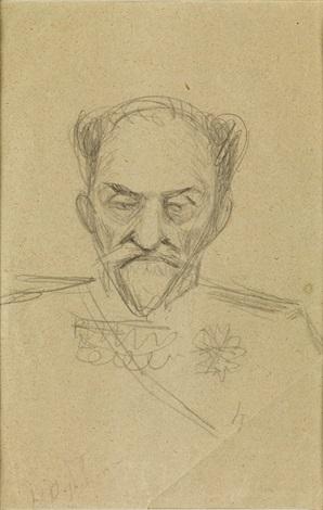porträt eines generals by nikolai nikanorovich dubovskoy