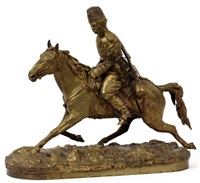 cossack on horseback by pyotr aleksandrovich samonov