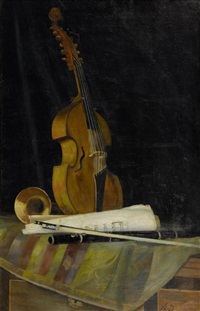 nature morte au violon by alfred rehfous