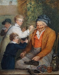 shoe cleaner has fallen asleep by charles f. tomkins