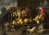 Still Life with Fruits, Vegetable and a Parrot, 1646