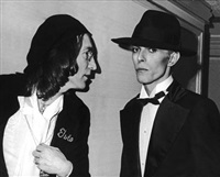 john lennon and david bowie by ron galella
