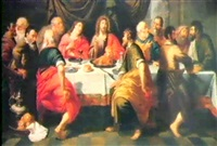 christus und seine junger beim abendmahl by erasmus quellin