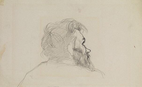 porträt eines bärtigen mannes by nikolai nikanorovich dubovskoy