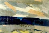 abstrakte landschaft by jean cornu