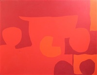 three cadmiums, five discs 1967 by patrick heron