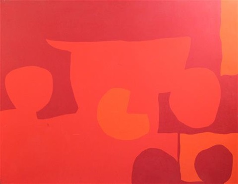 three cadmiums five discs 1967 by patrick heron