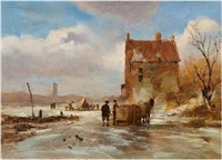 winterlandschaft by carl eduard ahrendts