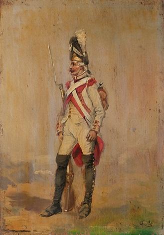 französischer grenadierfranzösischer husar pair by nicolas toussaint charlet