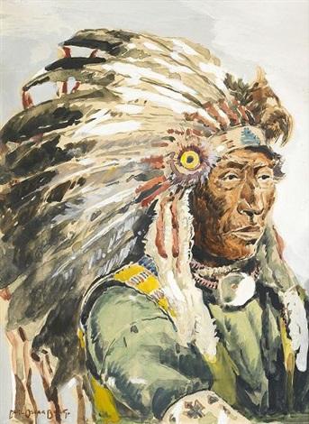 Blackfoot Indian by Carl Oscar Borg on artnet