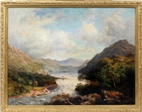 mountain river scene by harold steward rathbone