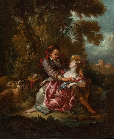 schäferszenen pair by jean honoré fragonard