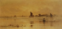 misty morning on the river by edward henry fahey
