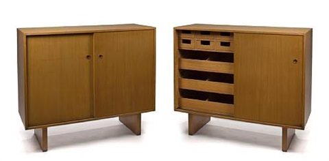 A Pair Of Dressing Cabinets By John Widdicomb Furniture (co.)