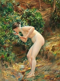 nude in a forest by will hicock low