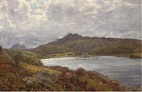 a yacht on a highland loch by alexander brownlie docharty