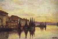 le canal st. sébastien, les martigues by gabriel-charles deneux