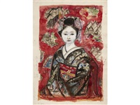 study of a maiko (study) by junichiro sekino