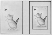 spielende junge katze by hans rüttimann